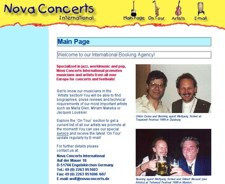 Website Version 1 (Main Page)