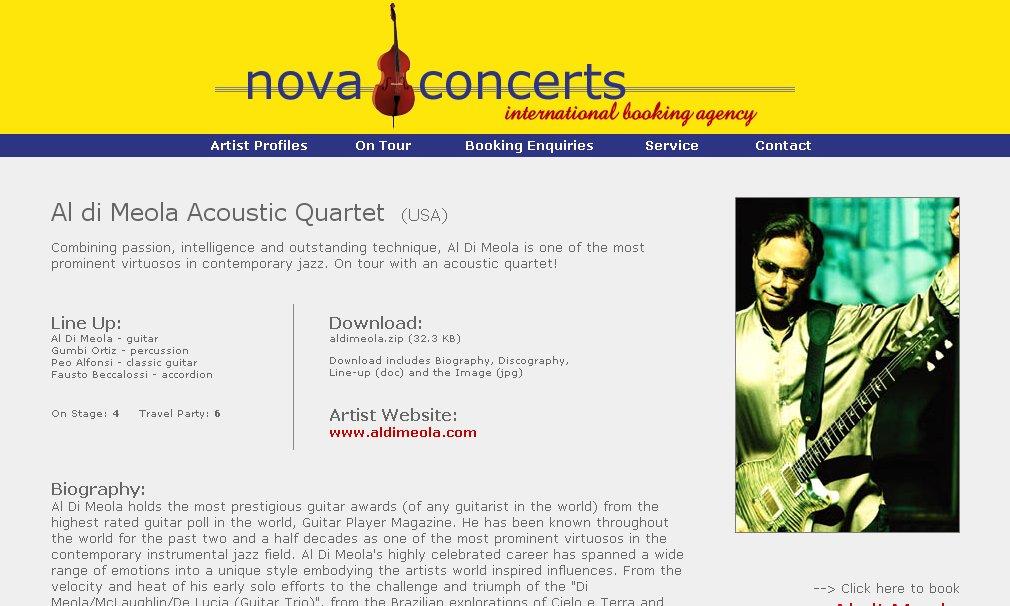 Website Version 3 (Artist Page)