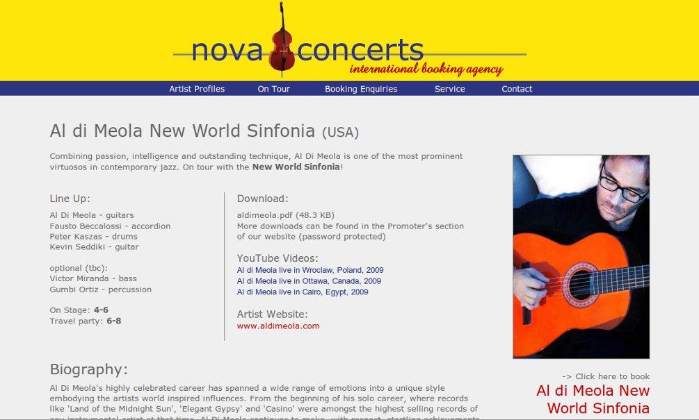 Website Version 4 (Artist Page)